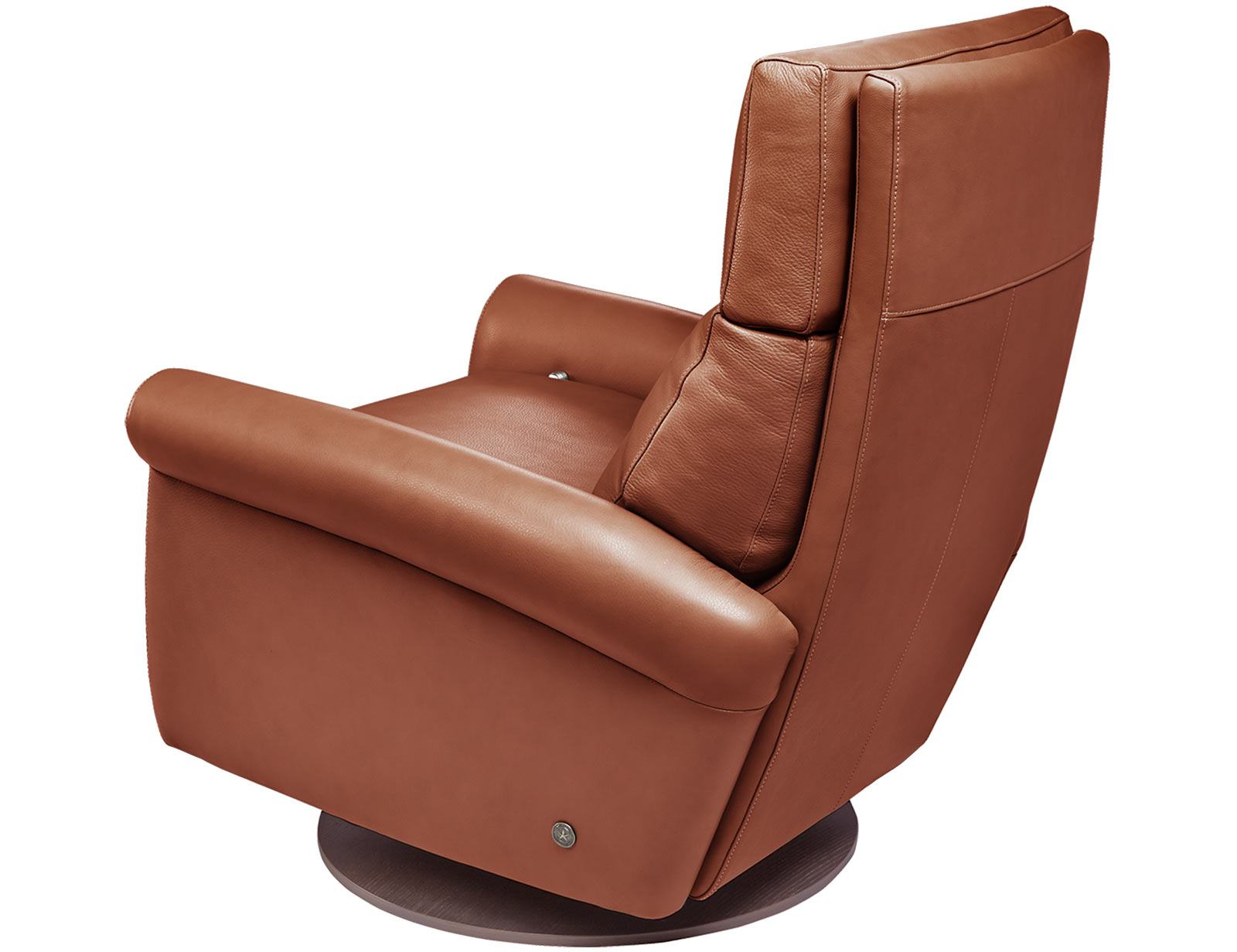 American Leather Adley Comfort Recliner available with swivel base