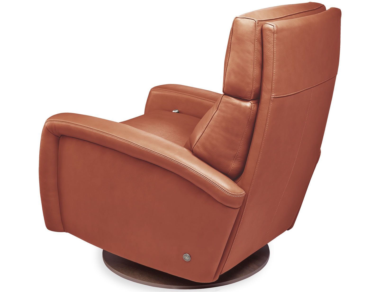 American Leather Dexter Comfort Recliner available with swivel base
