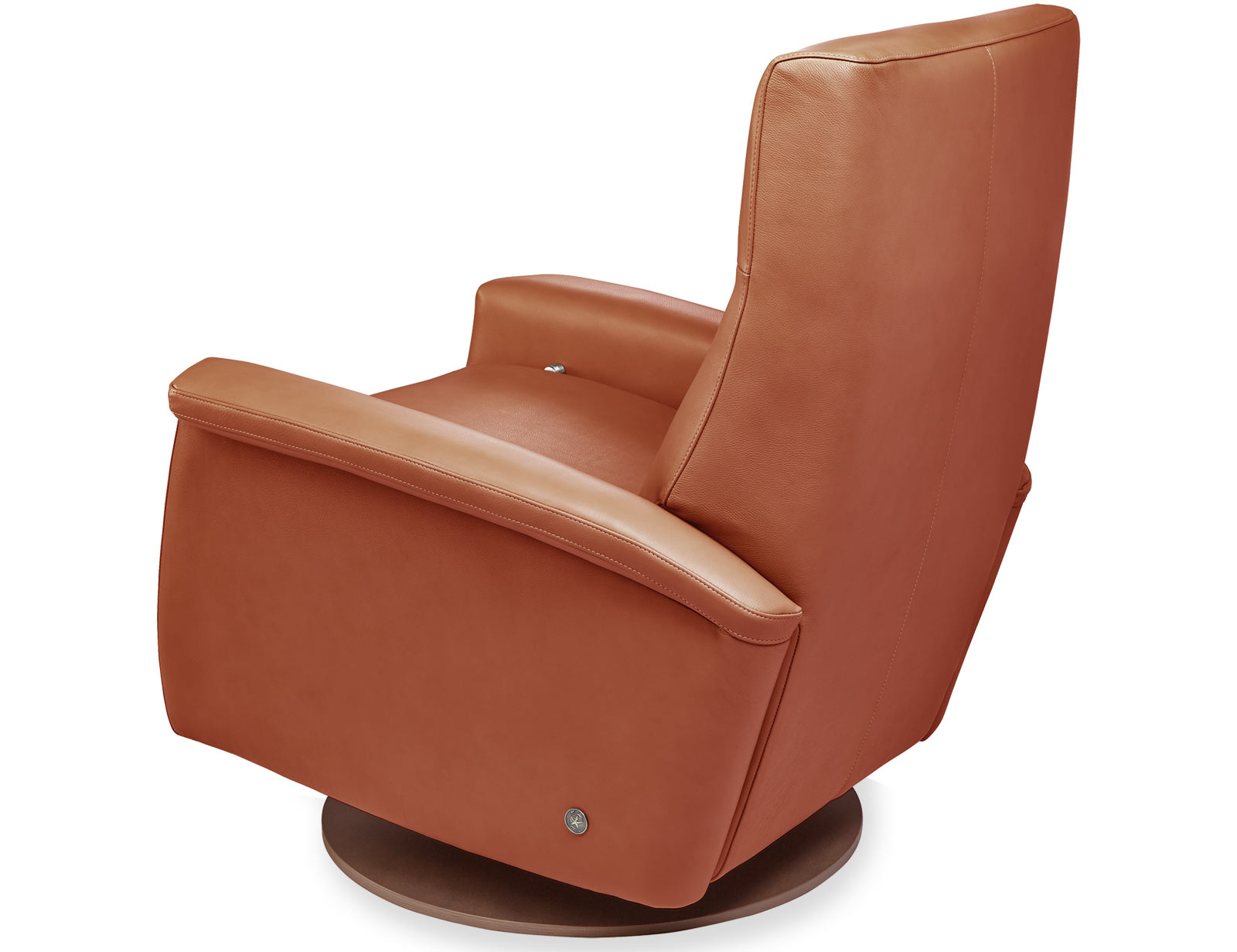 American Leather Fallon Comfort Recliner available with swivel base