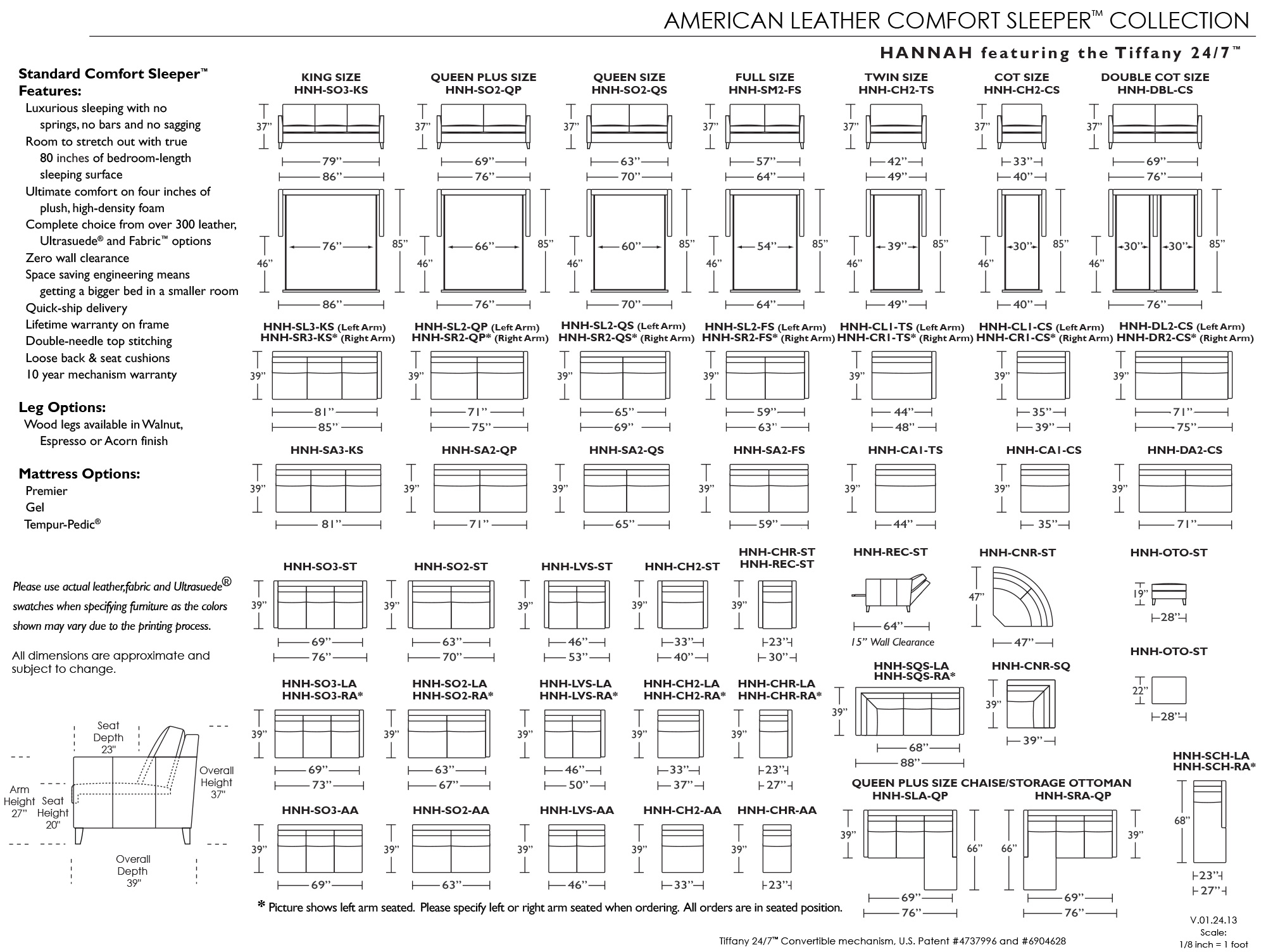 Sleeper sofa sizes perfect full size sleeper sofa for Sectional sleeper sofa dimensions