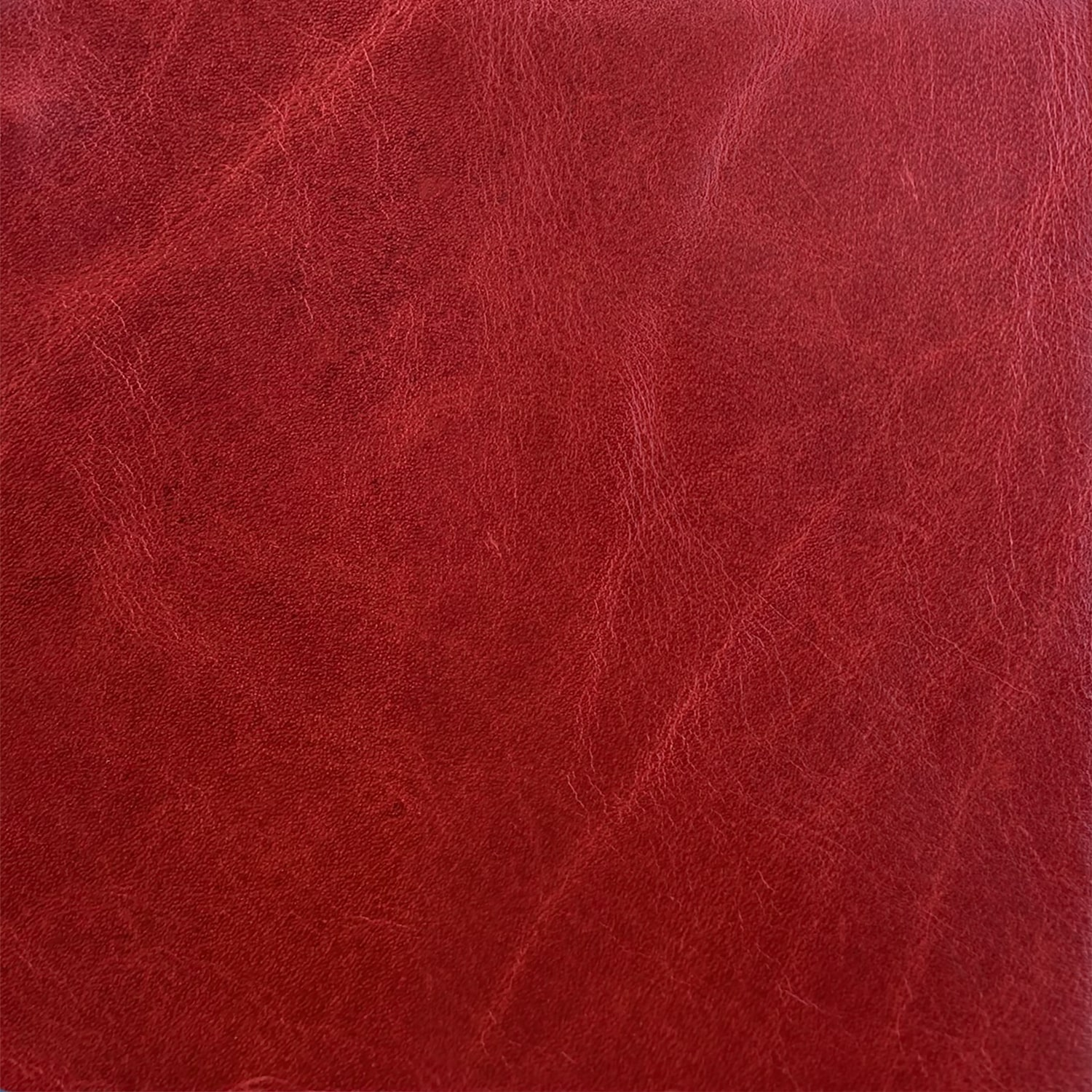 Flagstaff: Crimson (grade G): #FLG1813<br>Unique distressed markings, permiated with wax, rich vibrant color; light protection