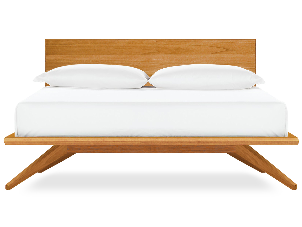 astrid platform bed, in natural cherry