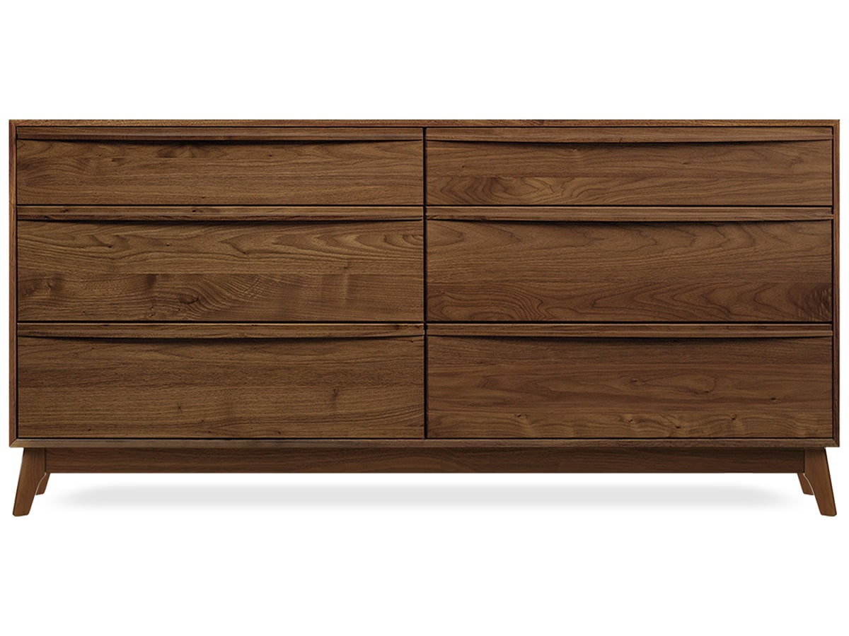 Catalina Walnut 6-Drawer Dresser