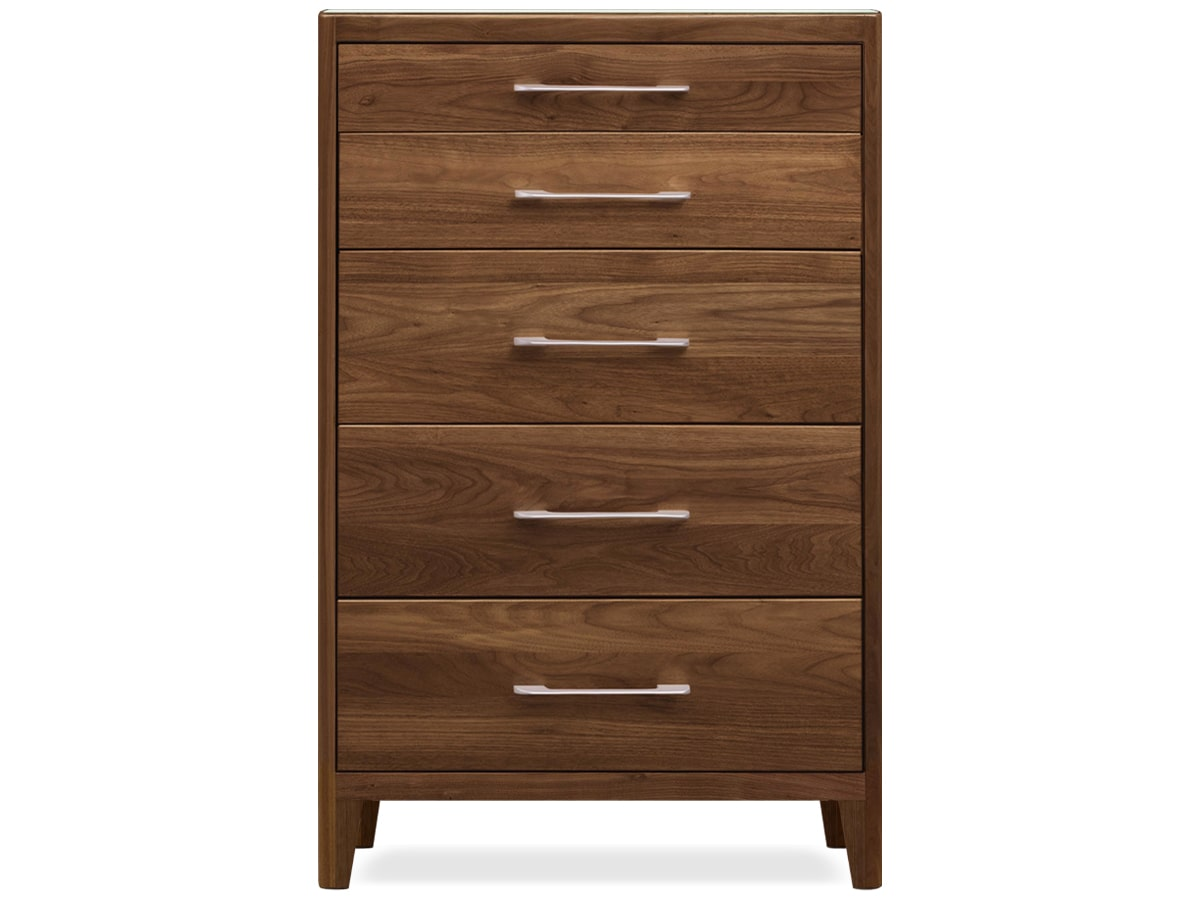 Contour modern bedroom 5 drawer chest of drawers