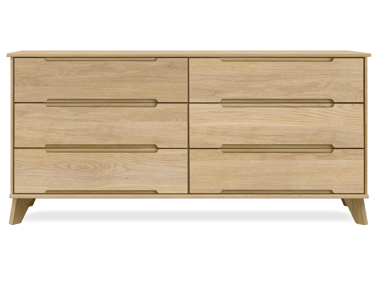 Linn 6-drawer Oak dresser
