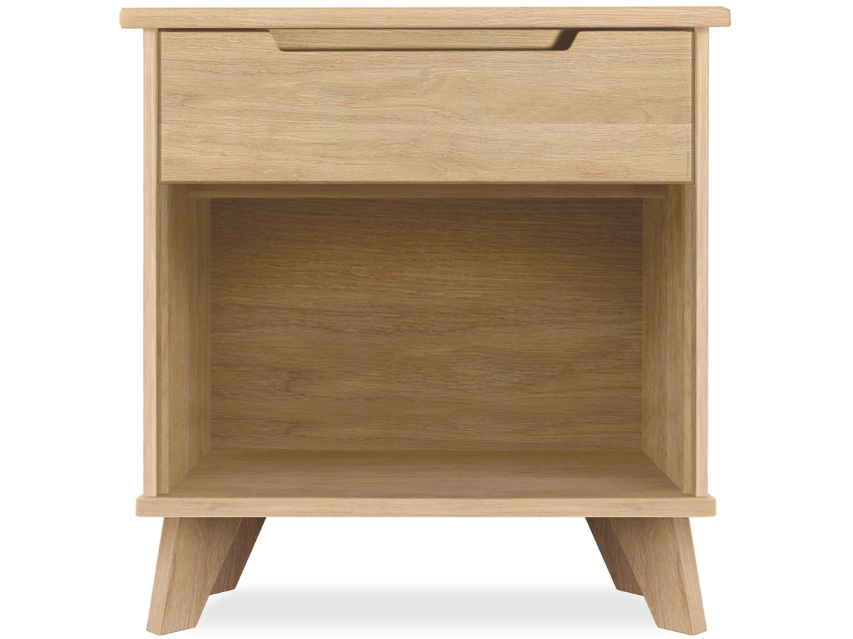 Linn 1-drawer Oak nightstand