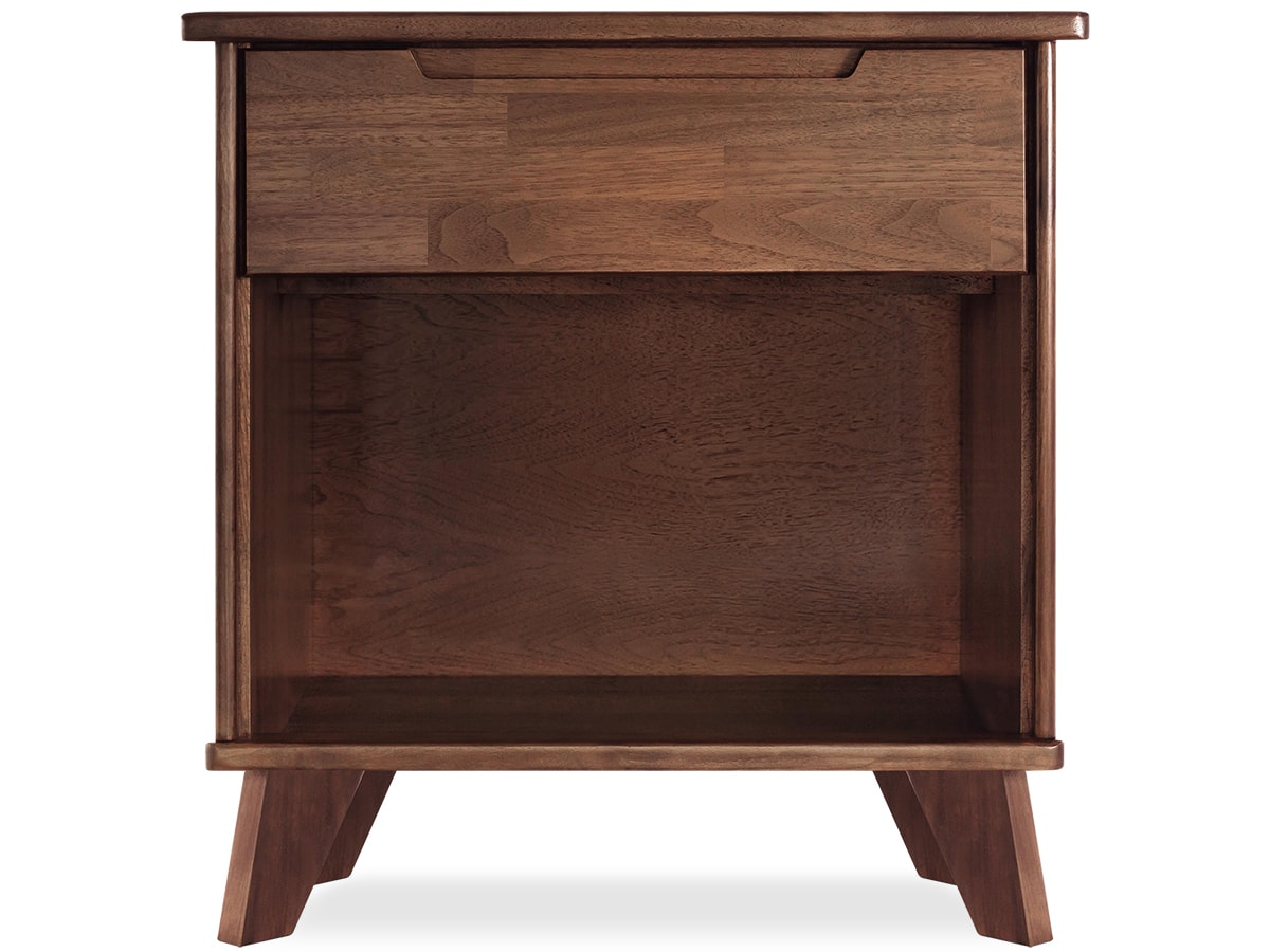 Linn 1-drawer walnut nightstand