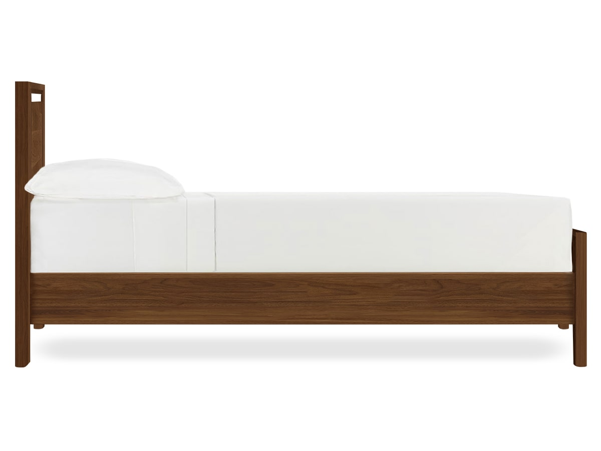 bedroom side view. Bedroom More Modern Platform Bed Mansfield Walnut By Side View