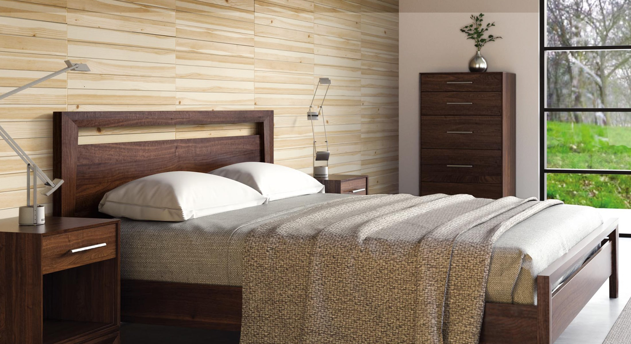 Modern Solid Wood Bedroom Furniture made in the U. S. A. by Copeland Furniture