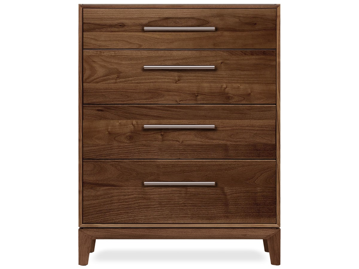 Mansfield 4-Drawer Chest, Solid North American Walnut, made in Vermont