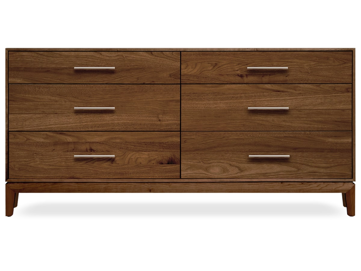 Mansifeld 6-Drawer Dresser, Solid American Walnut Dresser by Copeland of Vermont