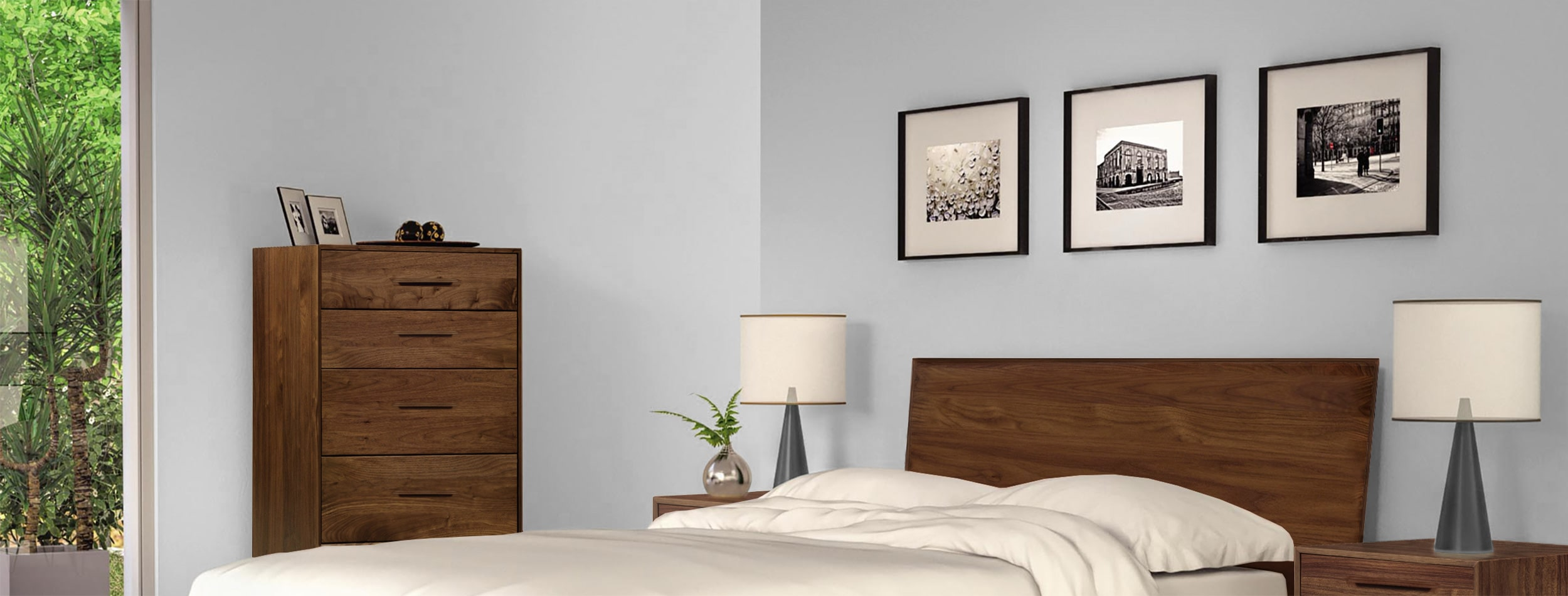 Soho Modern Platform Bed Room View