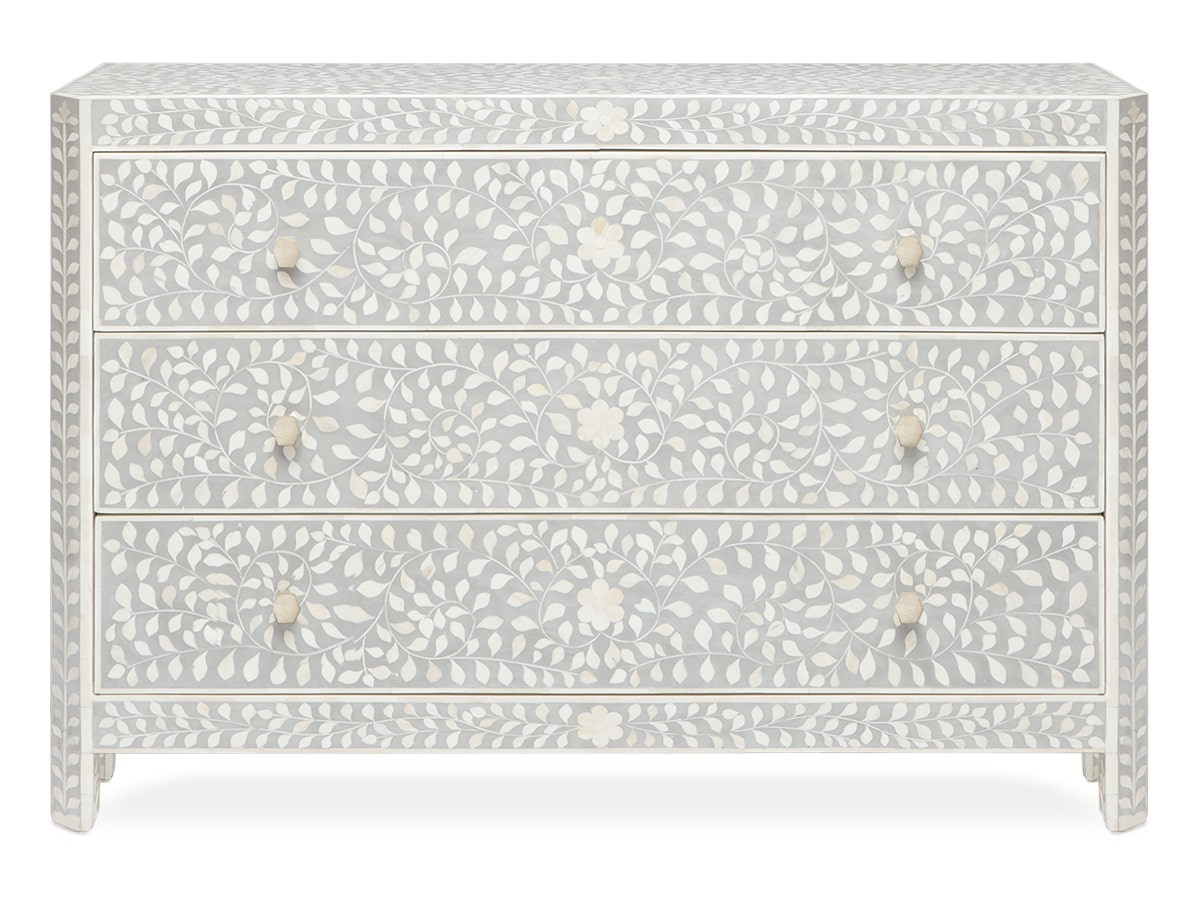 Lexi Indian floral inlay Dresser by Made Goods