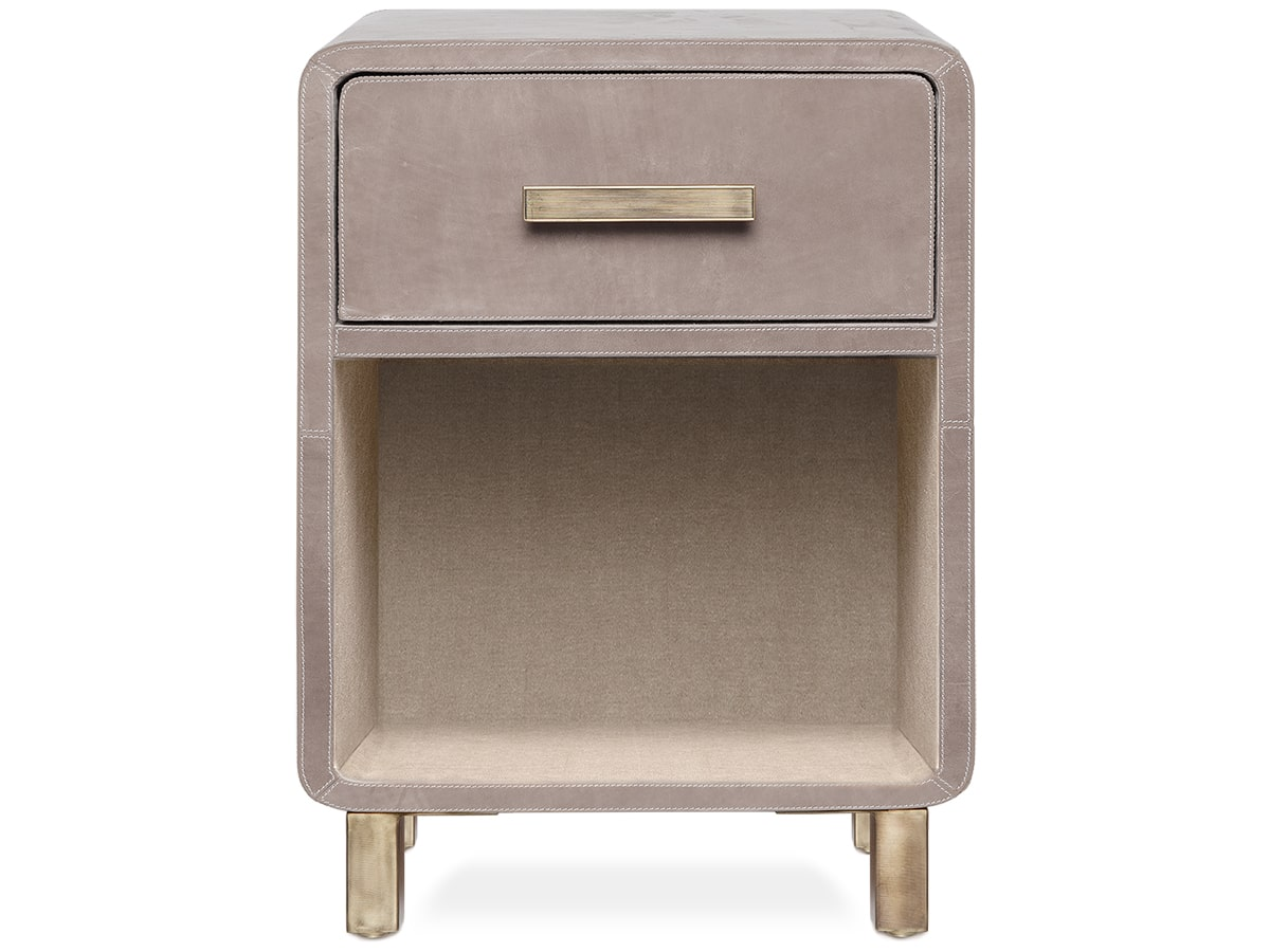 Dante Leather Nightstand by Made Goods