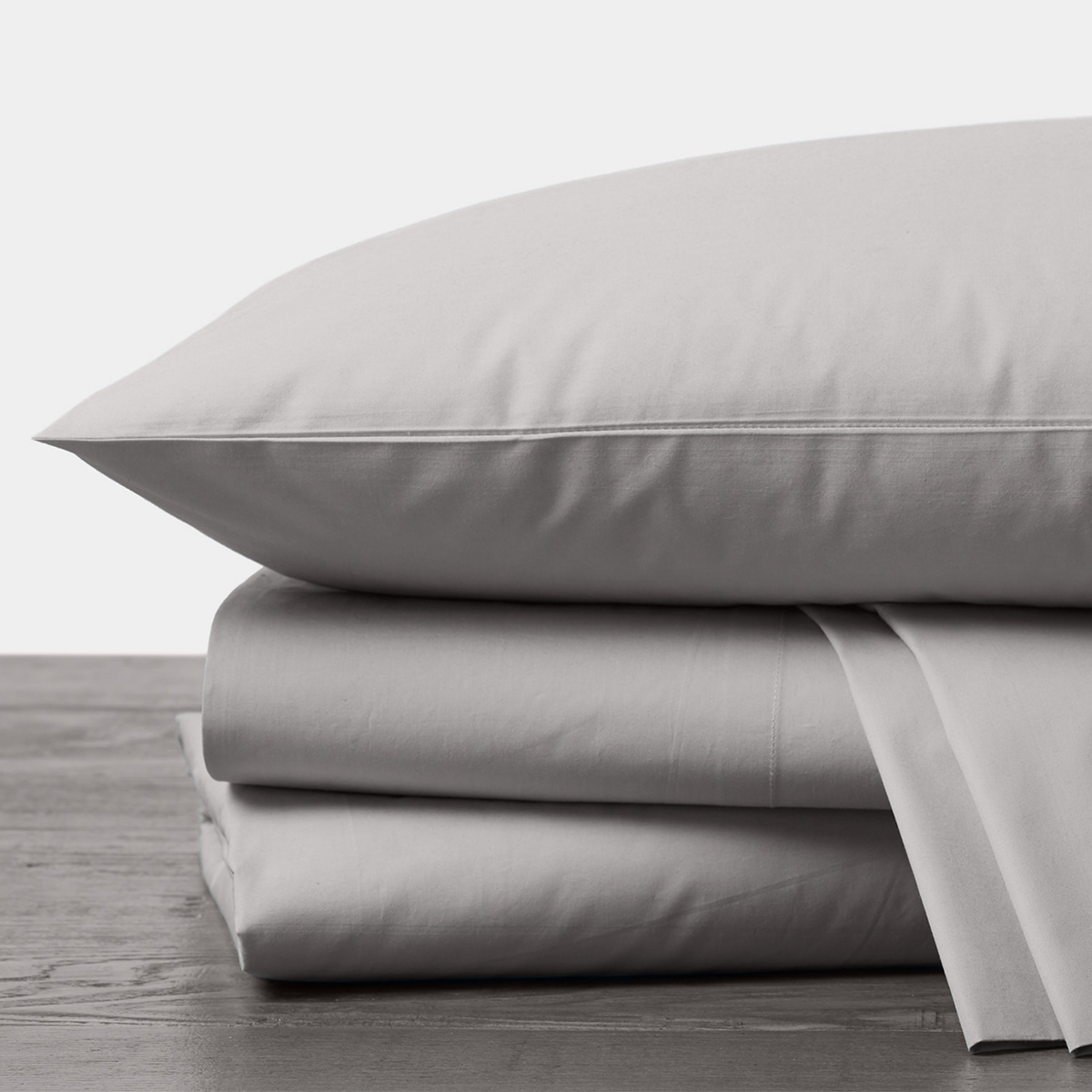 Organic Percale Sheet Set in Pewter by Coyuchi