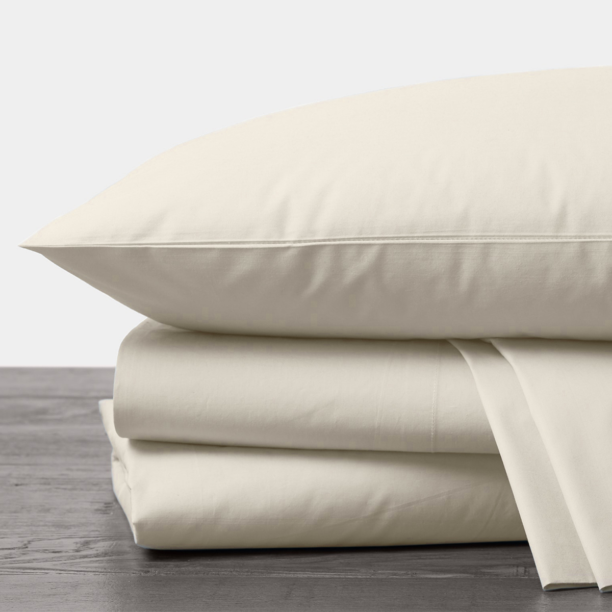 Organic Percale Sheet Set in Undyed by Coyuchi