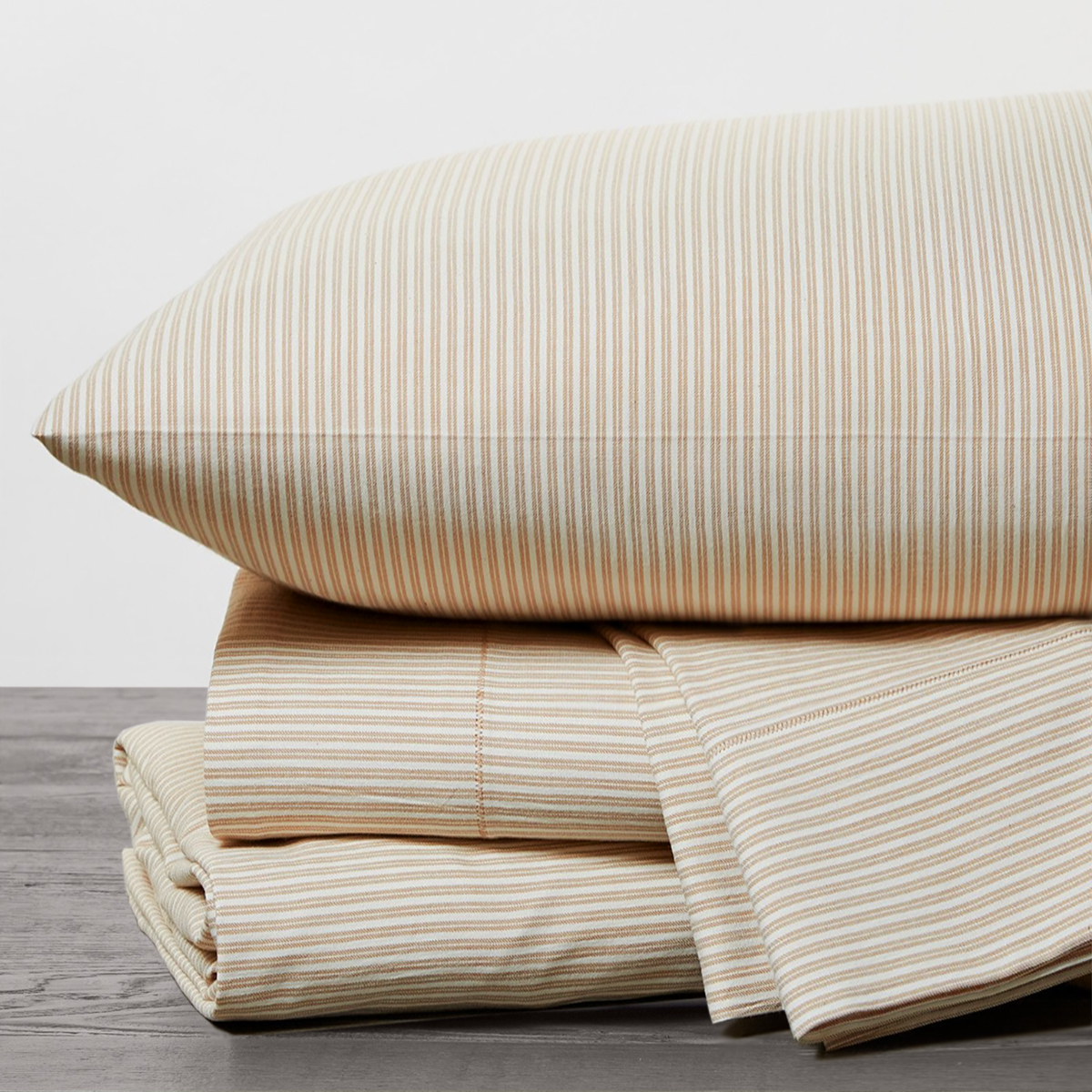 Organic Soft Wash Twill Sheet Set in Undyed w/Ginger by Coyuchi